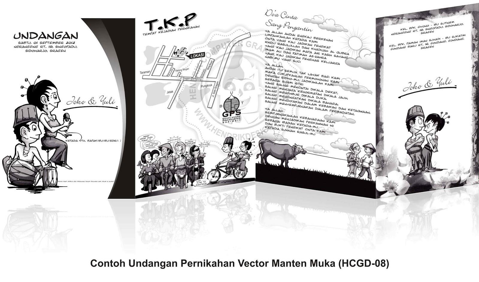 Contoh Undangan Pernikahan Vector Manten HCGD 08 Online